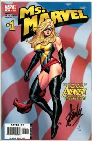 Ms. Marvel #1 Dynamic Forces Signed Stan Lee DF COA Ltd 14 Marvel comic book